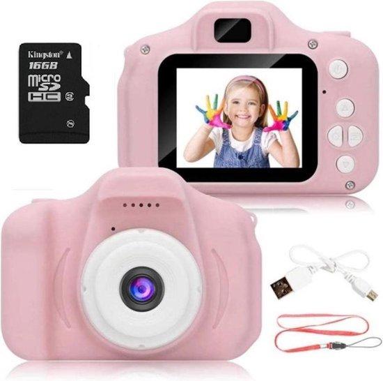 Digitale kindercamera roze / met videofunctie / incl. Kingston 16GB MicroSD kaart