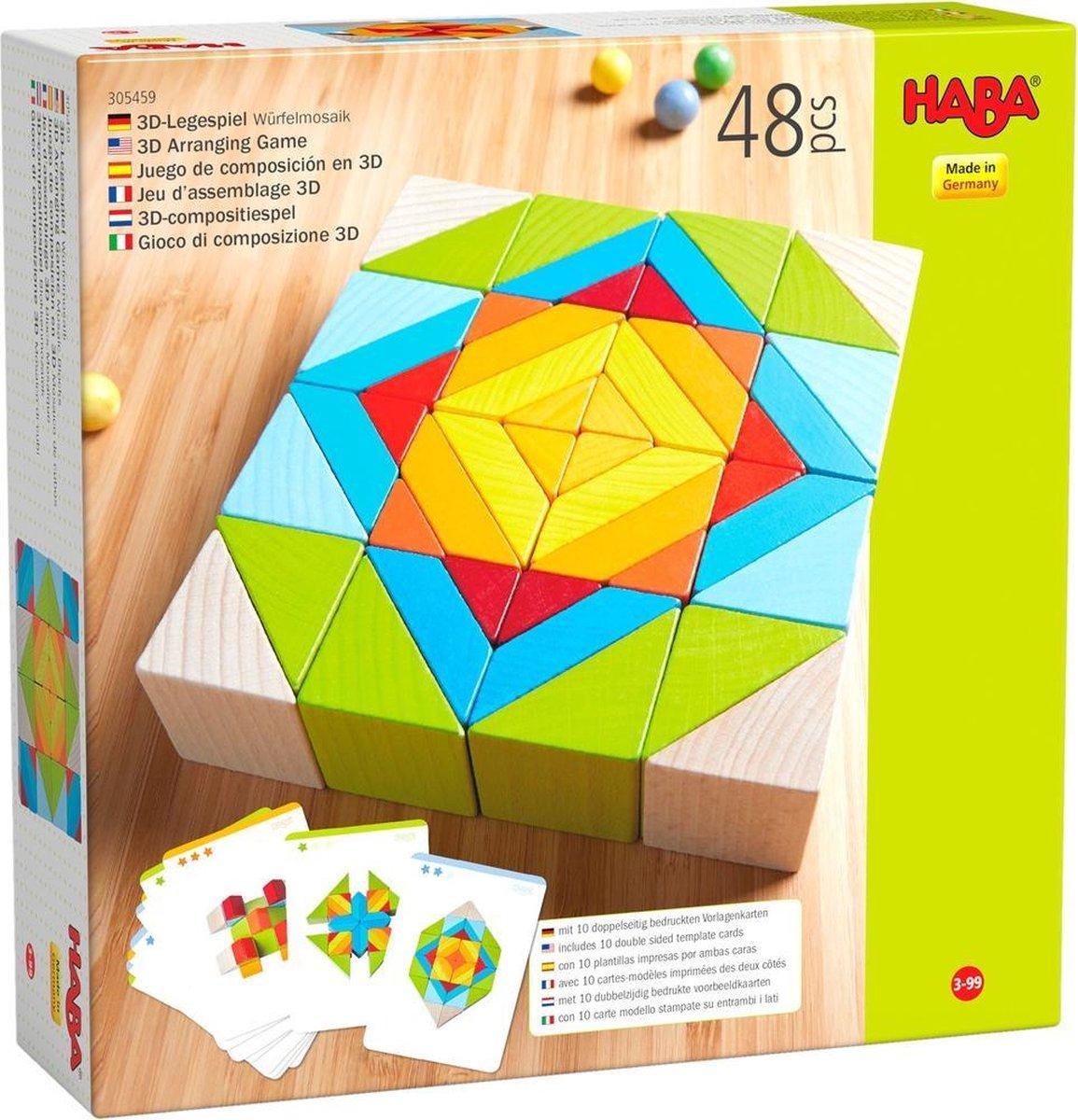 Haba Compositiespel Blokkenmozaïek 3-d Junior Hout 48 Blokken