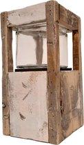 Houten Lantaarn met glas | GerichteKeuze