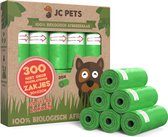 Hondenpoepzakjes - 300 stuks - 100% Biologisch Afbreekbaar - Poepzakjes Hond - 20 rollen