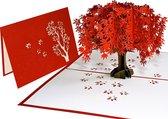 Popcards popupkaarten - Sakura Kersenbloesem Kersenboom wenskaart Boom Verjaardag Felicitatie Sarah Abraham pop-up kaart 3D wenskaart