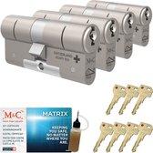 Cilinderslot M&C Matrix SKG*** (4 stuks)