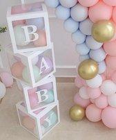 La Gabriela - 33 stuks babyshower box - babyshower doos - photoshoot - fotoshoot - baby - versiering - baby party - gender reveal - boy or girl - wit- verjaardag