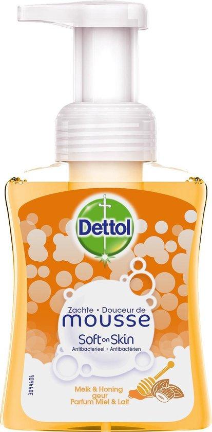 Dettol Handzeep Zachte Mousse - Melk & Honing - 250ml x12