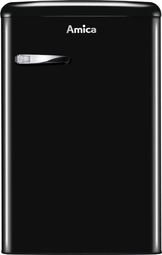 Koelkast: Amica AR1112N -  Retro Tafelmodel Koelkast - Zwart, van het merk Amica
