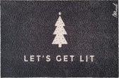 Zoey kerst deurmat - Let's get lit - Mad About Mats - 50x75cm