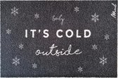 Zed kerst deurmat - Cold outside - Mad About Mats - 50x75cm