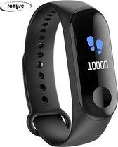 Stappenteller - Calorieënmeter - Hartslagmeter - Sport horloge - Bloeddrukmeter - Afstandmeter - Zwart - Smart Bracelet - IOS & Android - Voor Heren en Dames