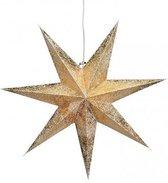 Kerstversiering gouden kerststerren 60 cm - Kerststerren hangdecoraties - Kerstversiering