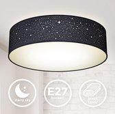 B.K.Licht - Plafondlamp - zwart - plafoniere - kinderkamer lamp - sternlamp - Ø38cm - excl. 2x E27