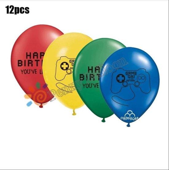 Game Controller-Happy Birthday-12-STUKS-Ballonnen
