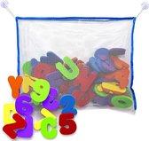 Bad letters en cijfers inclusief opbergnet | Combinatie set | Alfabet | Educatief speelgoed | 36 stuks