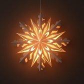 Kerstster wit papier decoratieve hanglamp Ø50 cm Shanti - incl. verlichtingsset