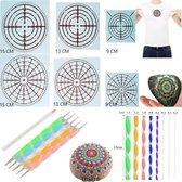 Mandala Dotting Starter Set - Stippen - 20 delig - Sjablonen Hobby Volwassenen - Dotting Tools - Dot Painting