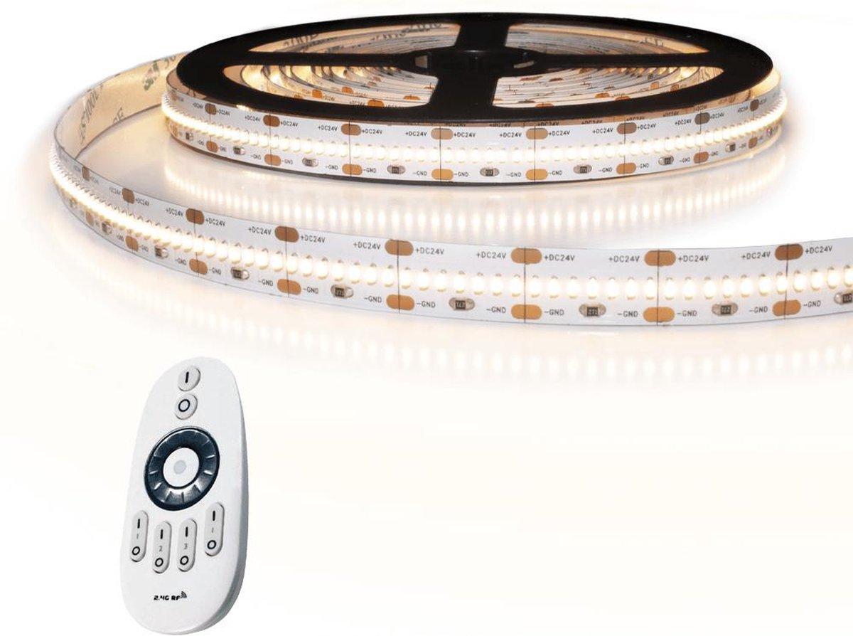 1 meter led strip helder wit pro 420 leds per meter - 4000K - Complete set