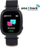 One2track Connect Touch - GPS tracker telefoonhorloge voor kinderen - Zwart