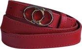 Rode riem - Minnota Red  Dames riem - Broekriem Dames - Dames riem -  Dames riemen - heren riem - heren riemen - riem - riemen - Designer riem - luxe