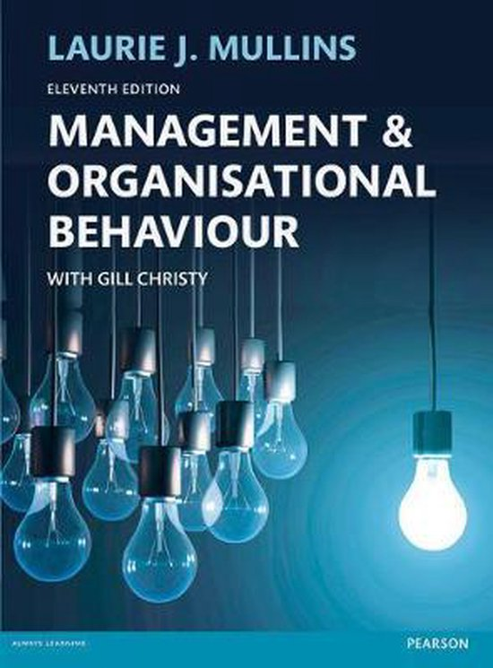Boek cover Management and Organisational Behaviour 11th edn van Laurie Mullins (Paperback)