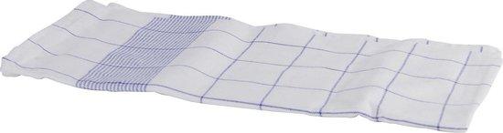 Glazendoek half linnen ca. 70x70 cm blauw set van 6 stuks