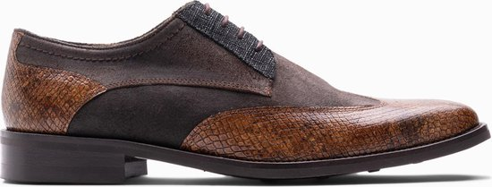 Paulo Bellini Lace up Shoes Demonte Tibete 610 brown suede.