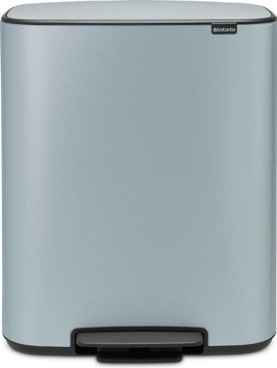 Brabantia Bo Prullenbak - 2 x 30 l - Metallic Mint