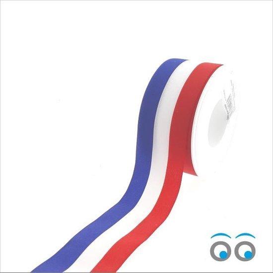 Nederlandse vlag lint (50 mm x 25 meter)