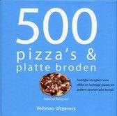 Boek cover 500 pizzas & platte broden van R. Baugniet (Hardcover)