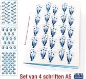Schriften Hollands Glorie A5 - 4 stuks