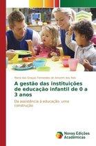 A Gestao Das Instituicoes de Educacao Infantil de 0 a 3 Anos