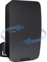 Vebos muurbeugel Sonos Play 5 gen 2 draaibaar zwart - verticaal