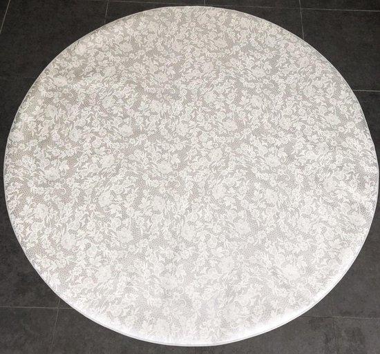 Bonita Tafelzeil - Rond 160 cm - Design - Silver White