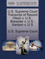 U.S. Supreme Court Transcript of Record Olson V. U S
