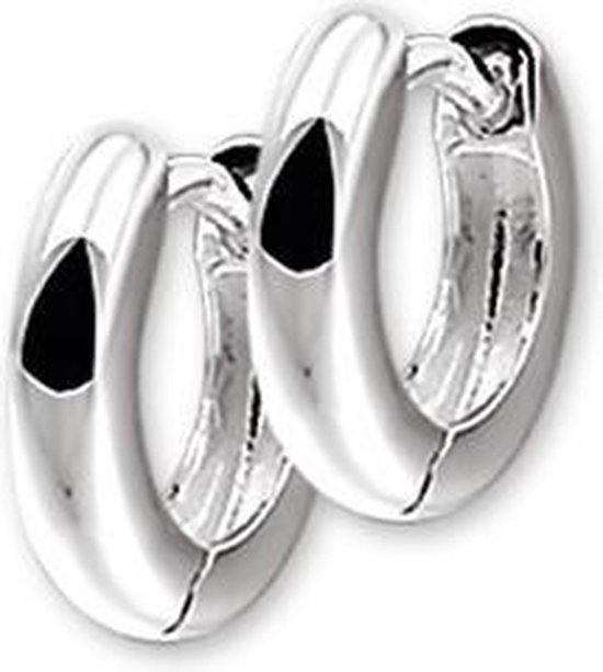The Jewelry Collection Klapoorringen Bol - Zilver