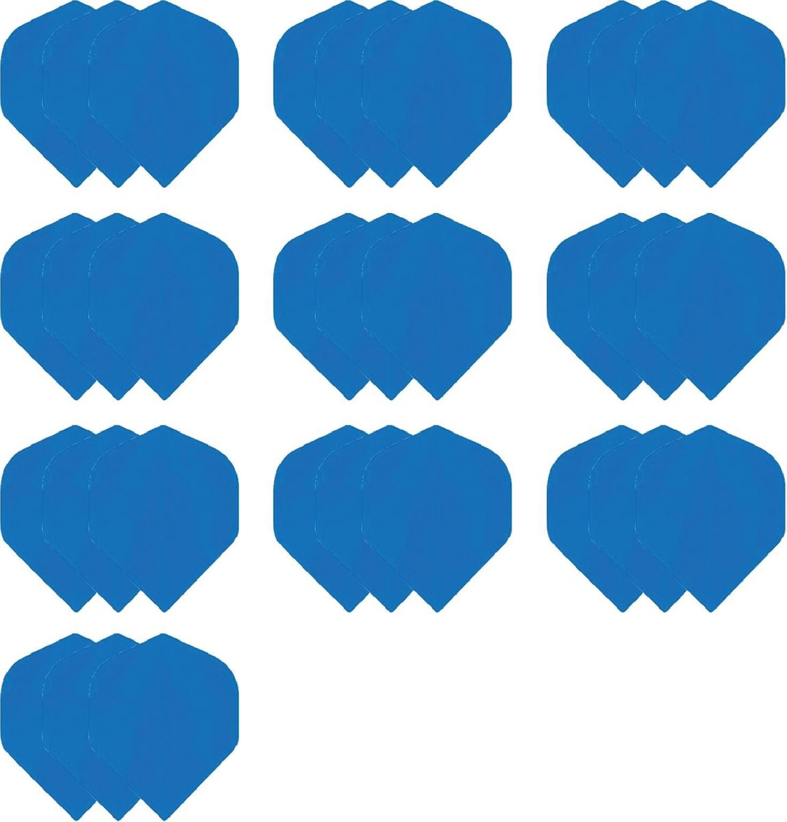 deDartshop 10 Sets (30 stuks) Dragon Poly - dart flights - Multipack - Blauw - darts flights