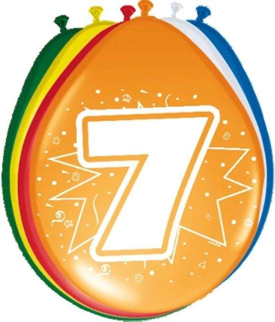 24x stuks Ballonnen versiering 7 jaar