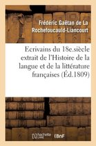 Esprit des ecrivains du 18e. siecle Histoire de la langue et de la litterature francaises