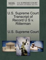 U.S. Supreme Court Transcript of Record U S V. Ritterman