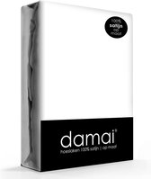 Damai - Hoeslaken (tot 25 cm) - Satijn - 90 x 200 cm - Wit