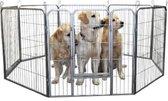 Topmast Puppyren 8 delig + koppelpennen Grijs Hamerslag 640cm Omtrek - 60cm hoog