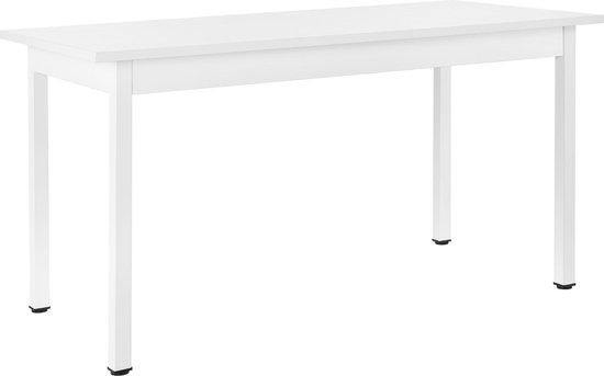 6 Design Stoelen.Bol Com Design Eettafel Leverkusen Voor 6 Stoelen Wit