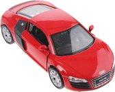 Welly Schaalmodel Audi R8 Rood