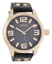 OOZOO Timepieces Polshorloge - C1157 - Donkerblauw - 46 mm