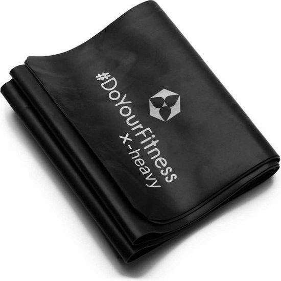 #DoYourFitness - Weerstandsband Amul - 120 x 15cm - Zwart (extra strong)