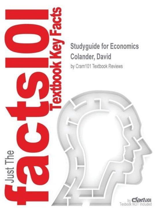Boek cover Studyguide for Economics by Colander, David, ISBN 9780077260088 van Cram101 Textbook Reviews