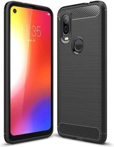 Rugged TPU Motorola One Vision Case - Zwart