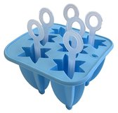 Cosy&Trendy For Kids Vorm - Siliconen - 6 IJslolly's - 19 cm x 13 cm - Blauw