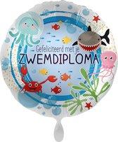 Everloon - Folieballon - Gefeliciteerd met je zwemdiploma - 43cm
