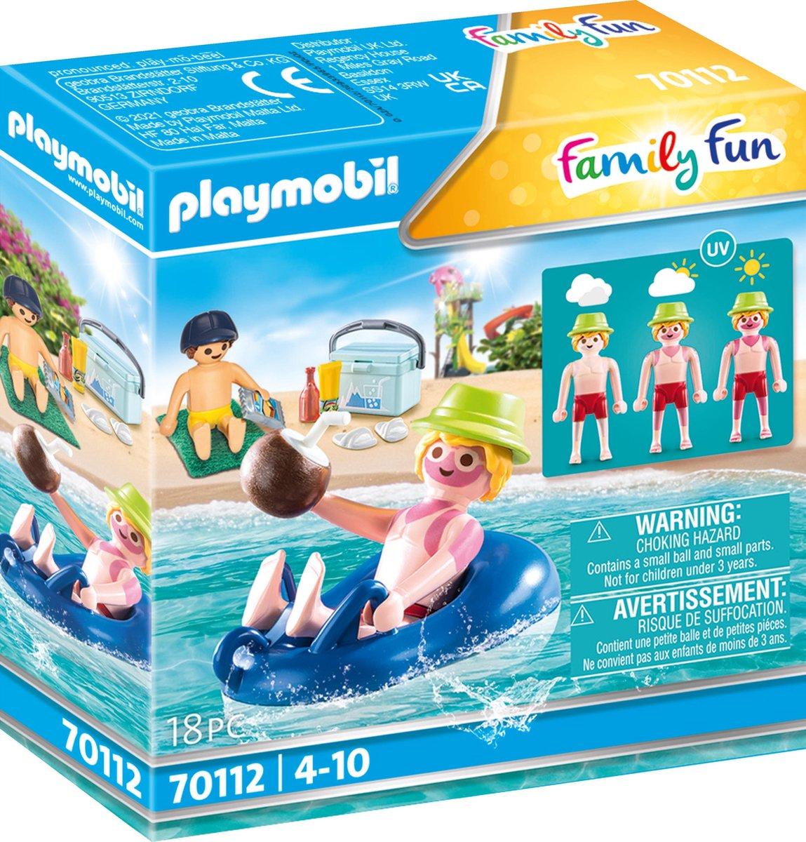 PLAYMOBIL Family Fun Badgast met zwembanden - 70112