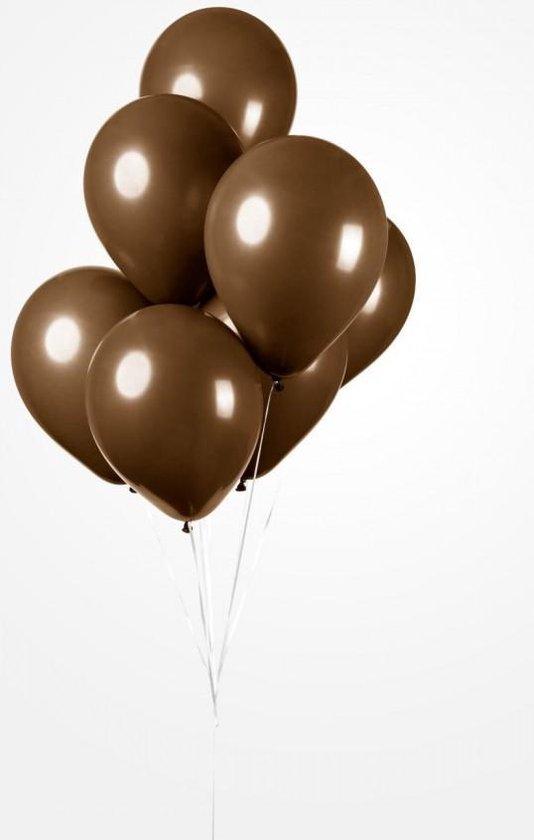 25 Ballonnen Bruin, 30 cm , Helium geschikt, Verjaardag, Feest, Voetbal, Pasen