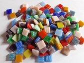 Mozaiek steentjes 1x1 cm  Regenboog kleuren 300 gram